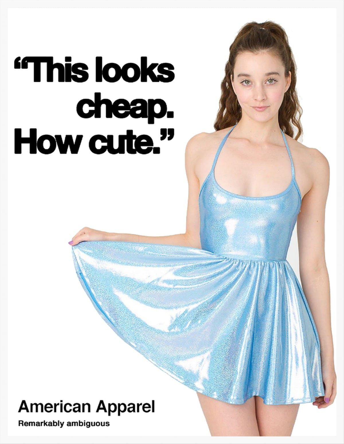 """the case of american apparel a clothing American apparel is giving shoppers who want their goods """"made in the  the  site states that the clothes are """"identical in quality"""" and ethically."""