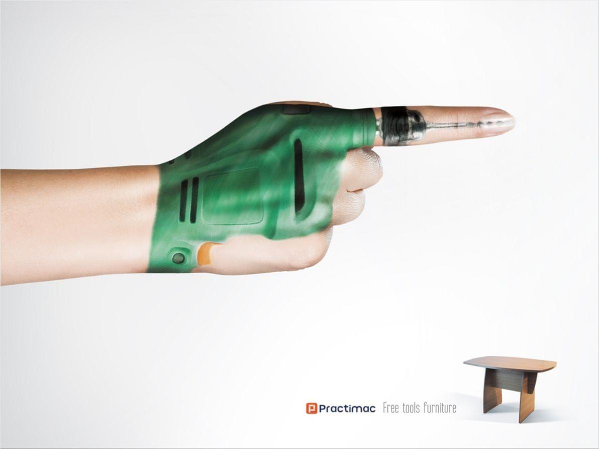 free tools furniture practimac ads
