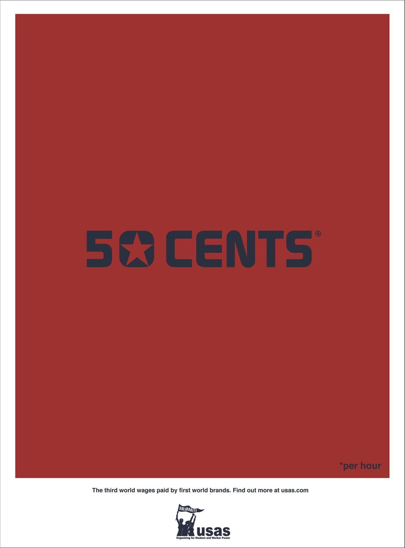 united students against sweatshops print ad