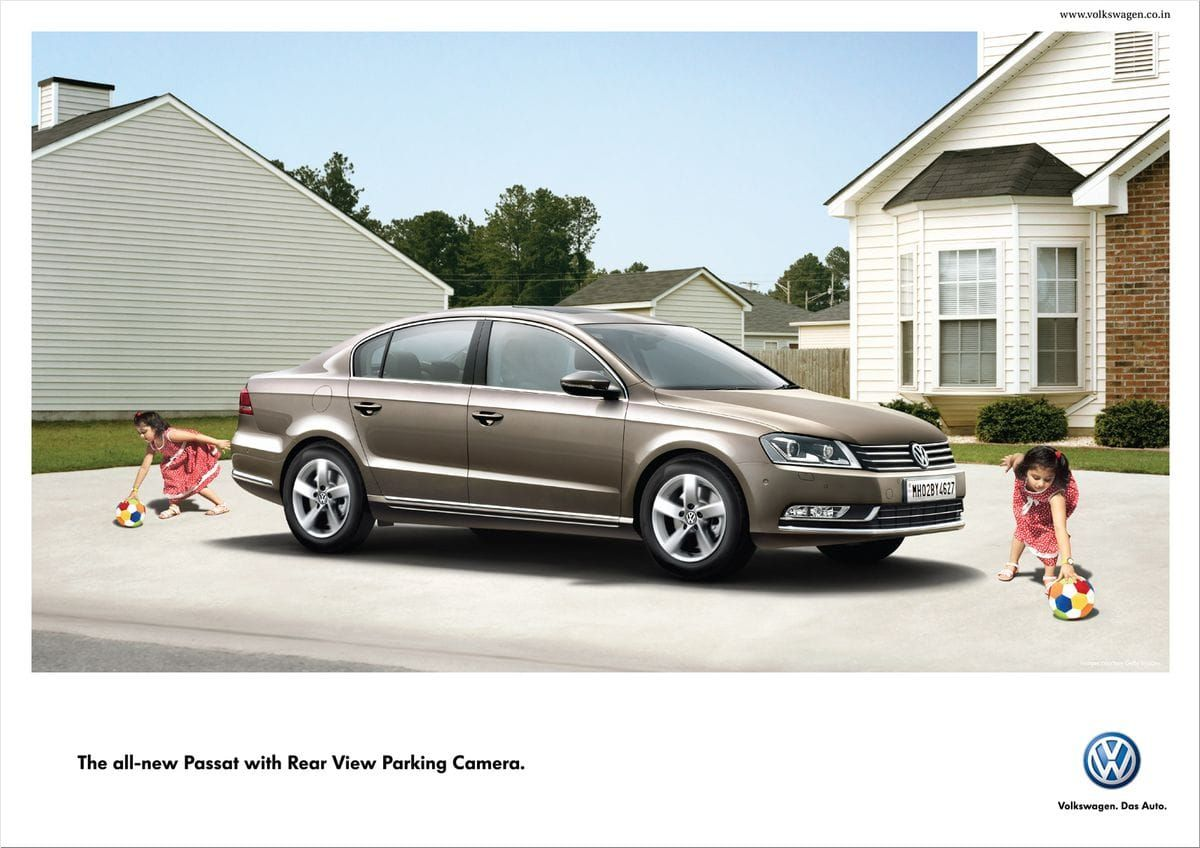 Volkswagen Passat with Rear View Parking Camera|Volkswagen ads