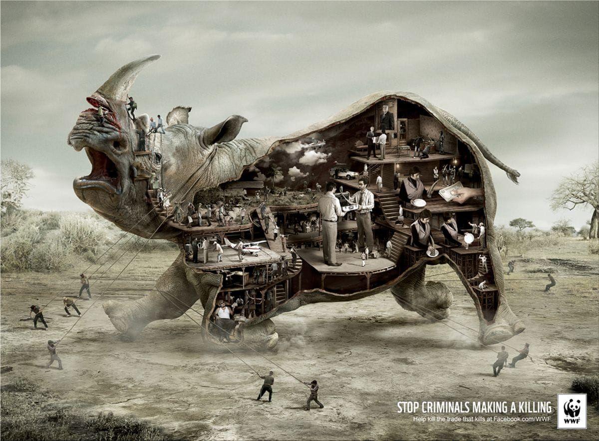world wildlife fund advertisement