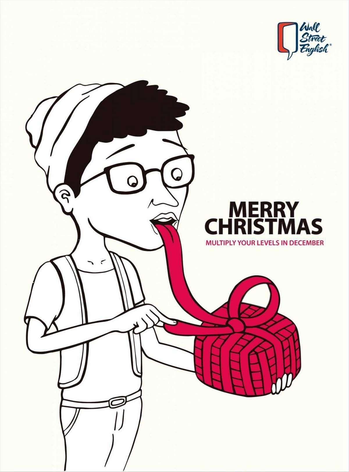 Wall Street English: Merry Christmas Wall Street English ads