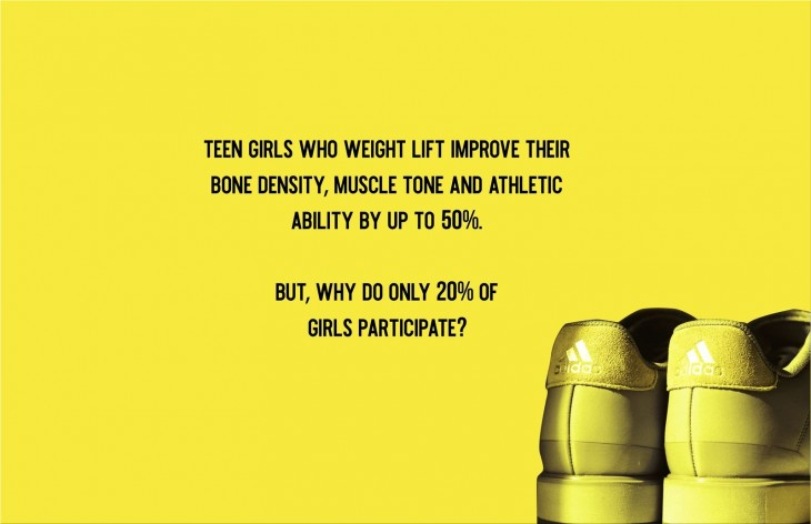 """Adidas """"Muscles aren't masculine"""" by The Creative Circus"""