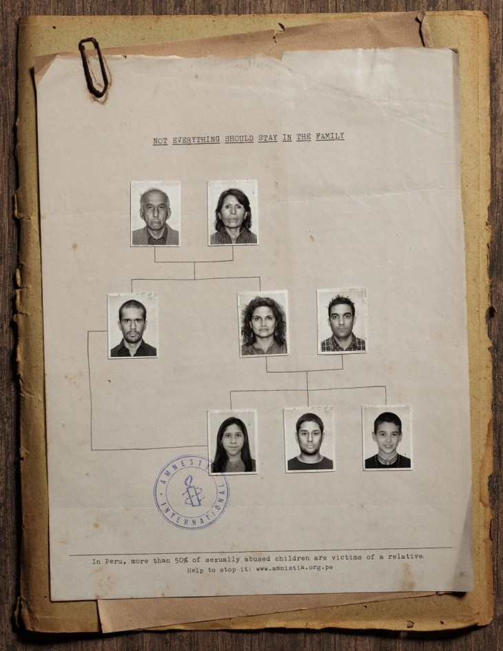 Amnesty International: Not everything should stay in the family.