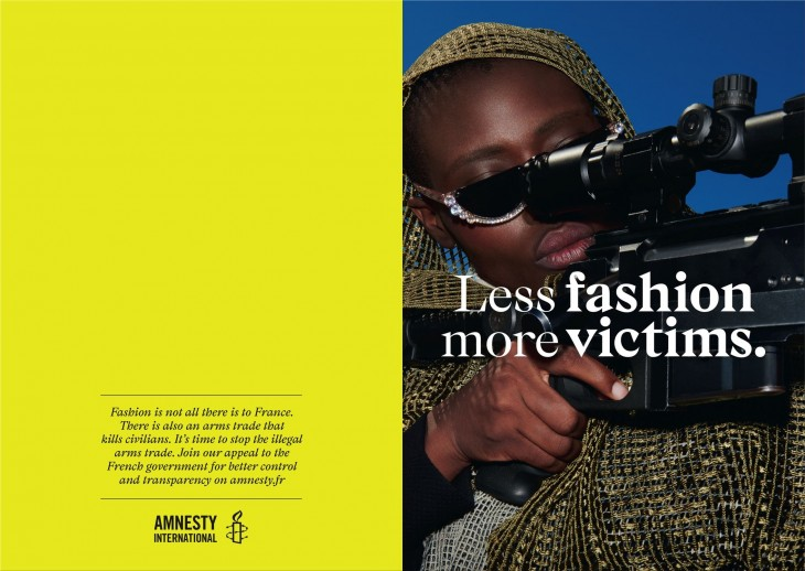 """Amnesty International """"Fashion is not all there is to France"""""""