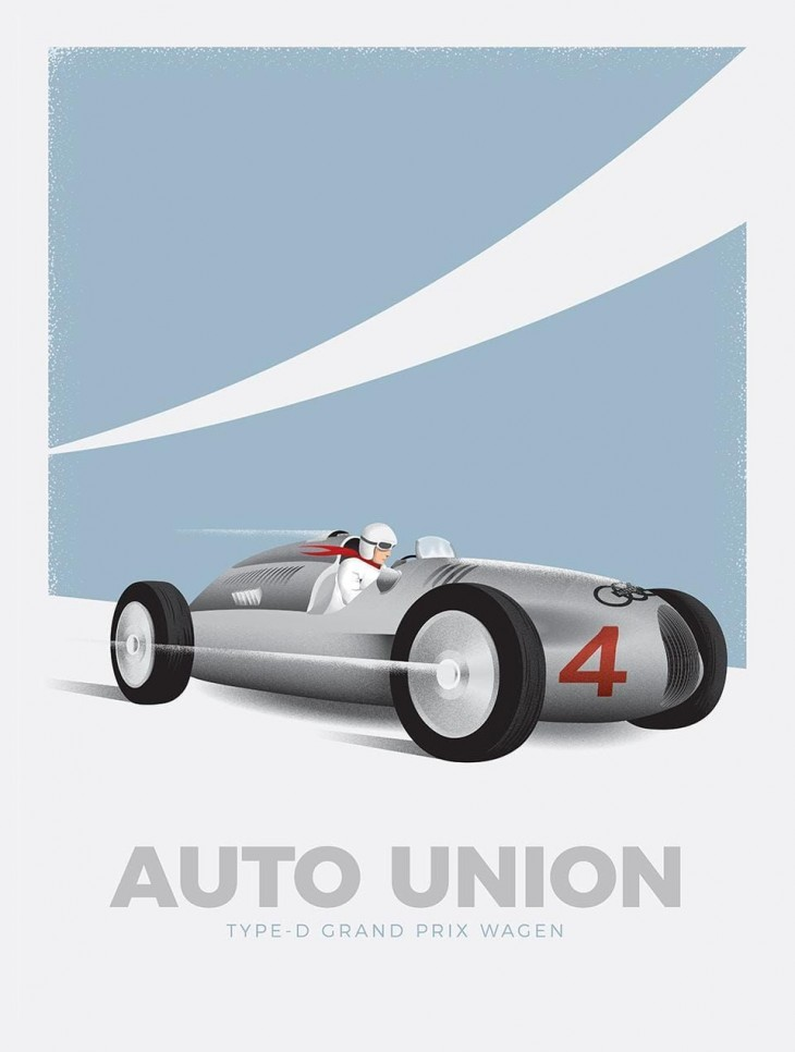 """Audi: """"Heritage Poster Series"""" by TracyLocke"""