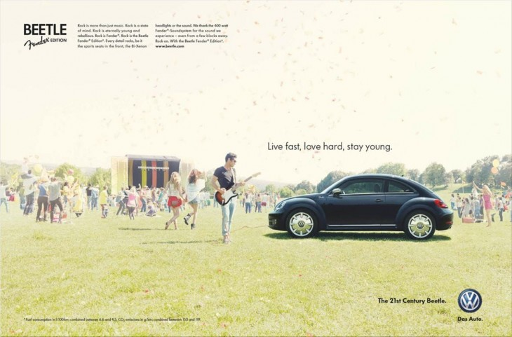 Beetle Fender Edition ads