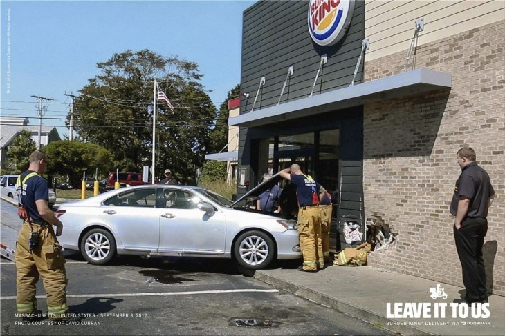 """Burger King """"Burger King Home Delivery. Leave it to us."""""""