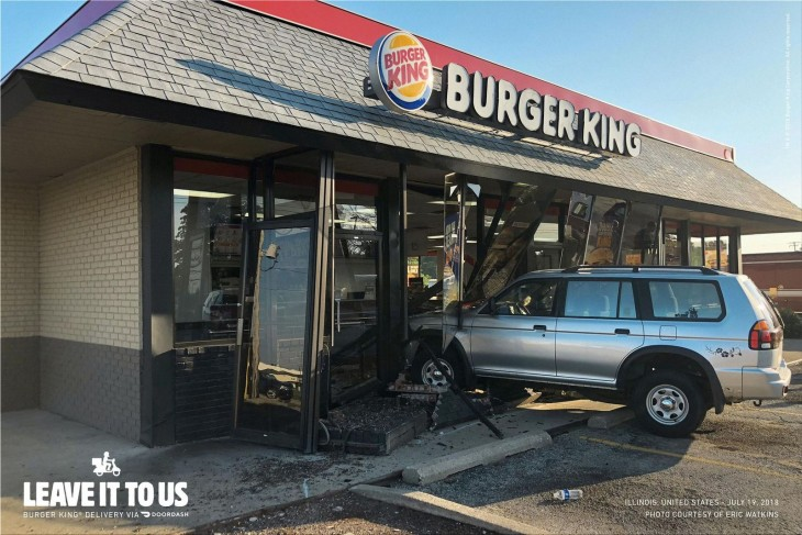 "Burger King ""Burger King Home Delivery. Leave it to us."""