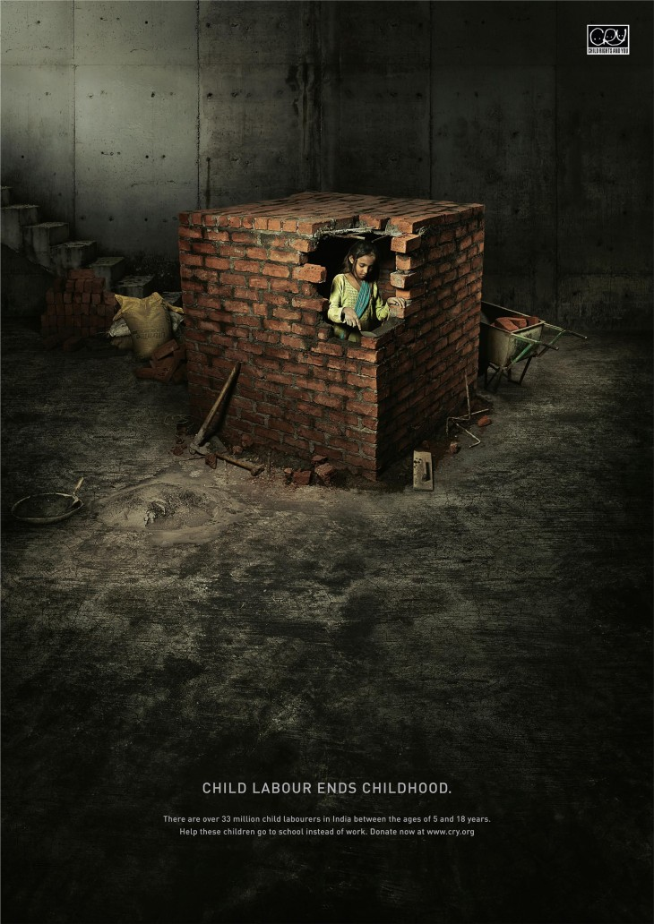 "CRY ""Child labour ends childhood"""