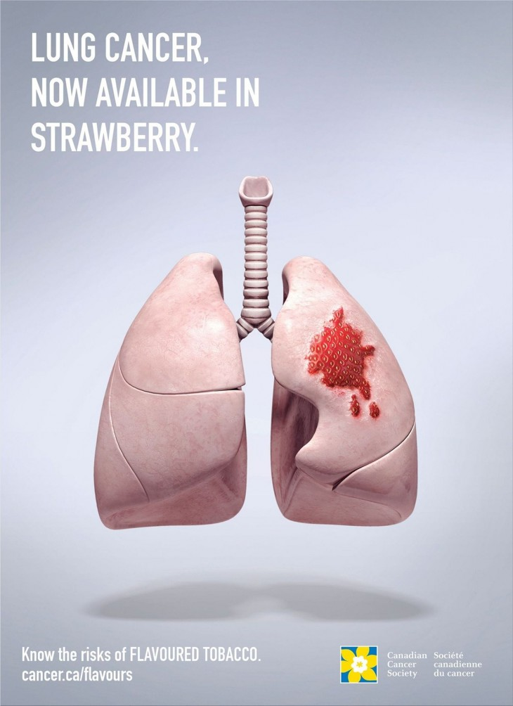 Canadian Cancer Society print ads