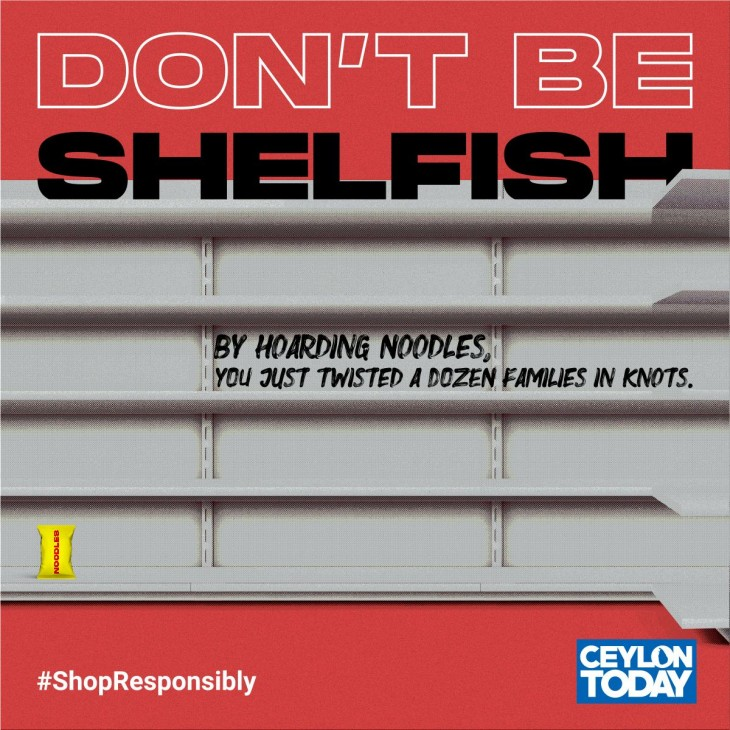 "Ceylon Today ""Don't Be Shelfish'"""