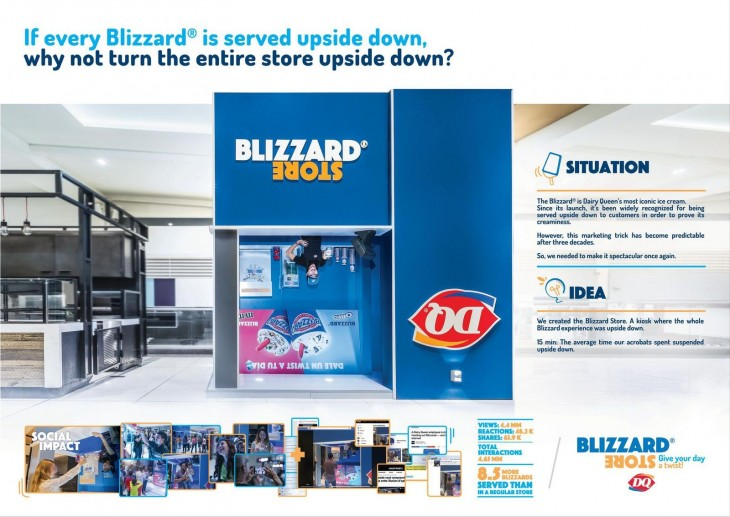 """Dairy Queen """"Blizzard Store"""" by P4 Ogilvy & Mather"""