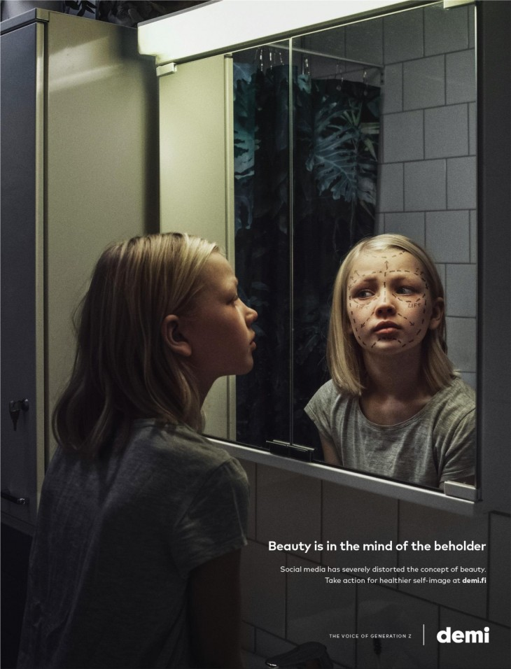 """Demi """"Beauty is in the mind of the beholder"""" by TBWA"""
