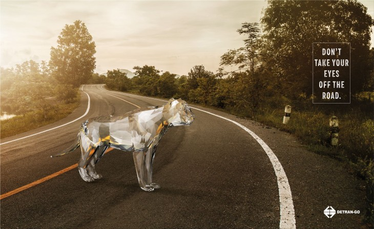 """Detran-GO """"Don't take your eyes off the road."""""""