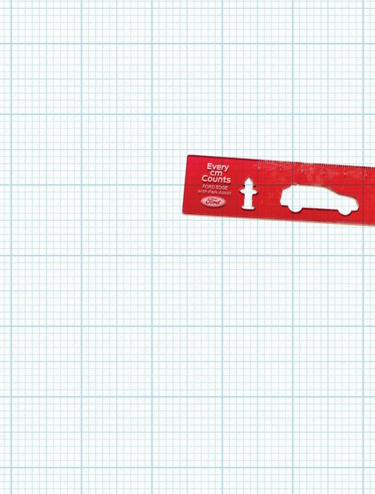 Ford Edge- FIRE HYDRANT RULER