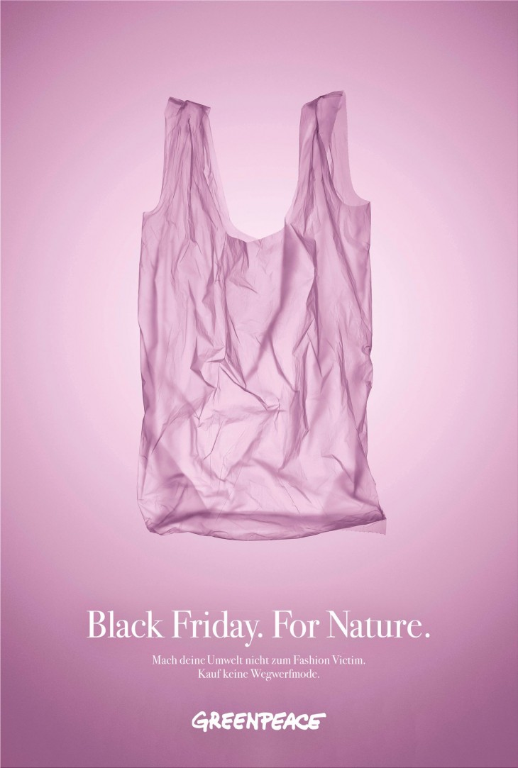 "Greenpeace ""Black Friday For Nature. Don't buy more garbage!"""
