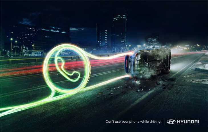 """Hyundai """"Don't use your phone while driving"""""""