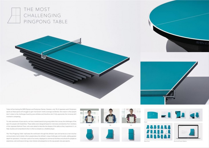 "Japan Para Table Tennis Association ""The Most Challenging Pingpong Table"" by Tbwa\Hakuhodo"