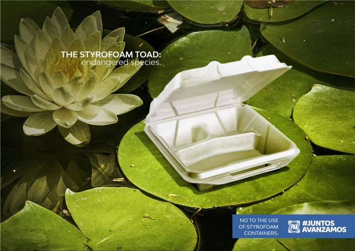 "Juntos Avanzamos ""No to the use of styrofoam containers"""