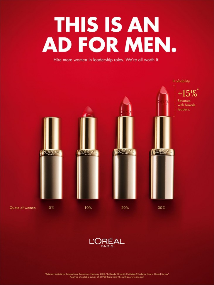 """L'Oreal """"This Is An Ad For Men"""""""