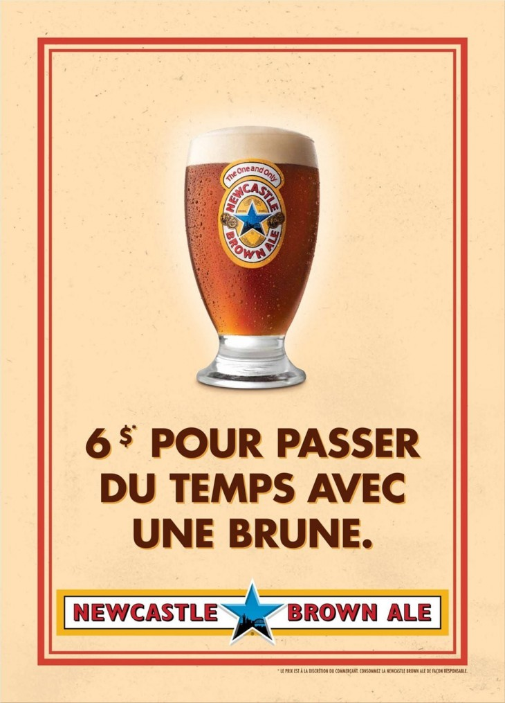 Newcastle Brown Ale print ads