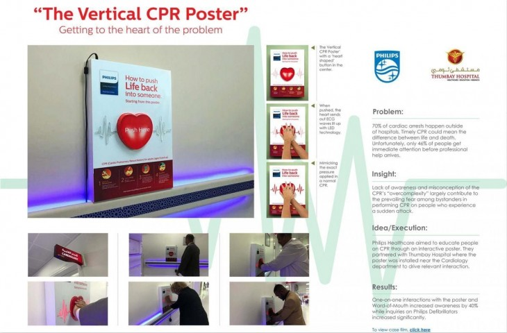 "Philips: ""The Vertical CPR Poster"" by Prism Advertising"