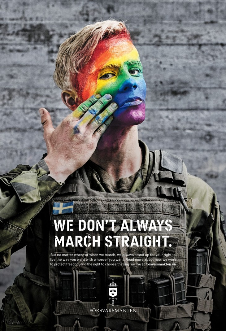 "Swedish Armed Forces ""We don't always march straight"" by Volt"