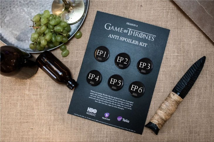 Telia - Game of Thrones Anti Spoiler-kit for fans