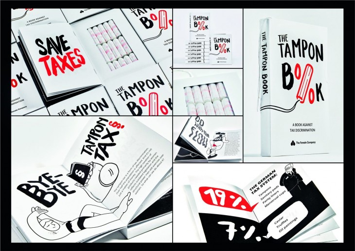 "The Female Company ""The Tampon Book"" a book against tax discrimination"