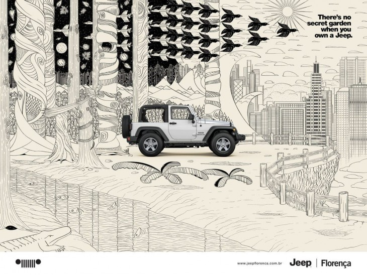 There's no secret garden when you own a Jeep