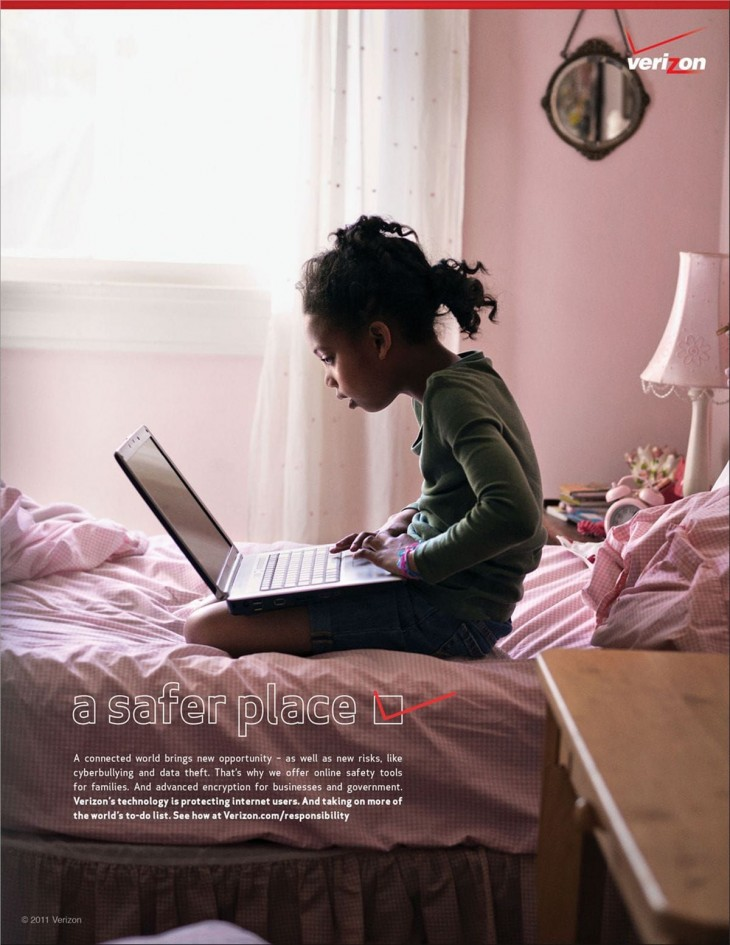 Verizon print ads