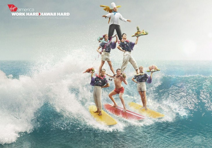 Virgin: work hard hawaii hard