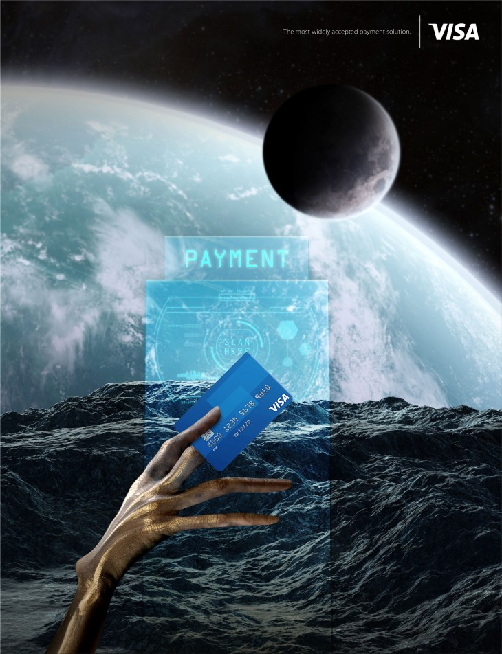 """Visa """"The most widely accepted payment solution"""""""