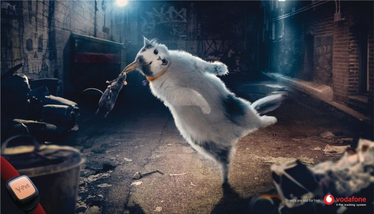 """Vodafone """"Streets are not for him. Vodafone V-Pet"""""""