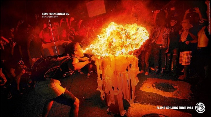 "Burger King: ""Love Fire? Contact Us"" by Corida"