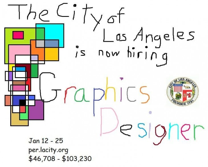 City of Los Angeles is now hiring Graphics Designer