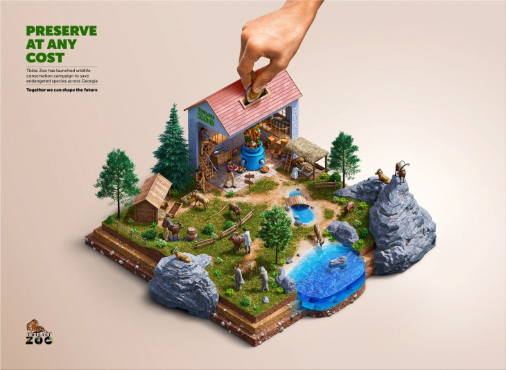 """Tbilisi Zoo """"Preserve At Any Cost. Toghether we can shape the future"""""""