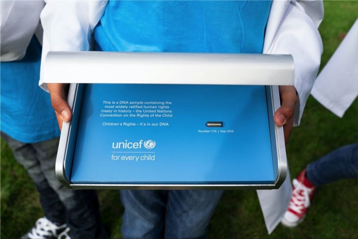 "Unicef ""Children's Rights — It's in our DNA"""