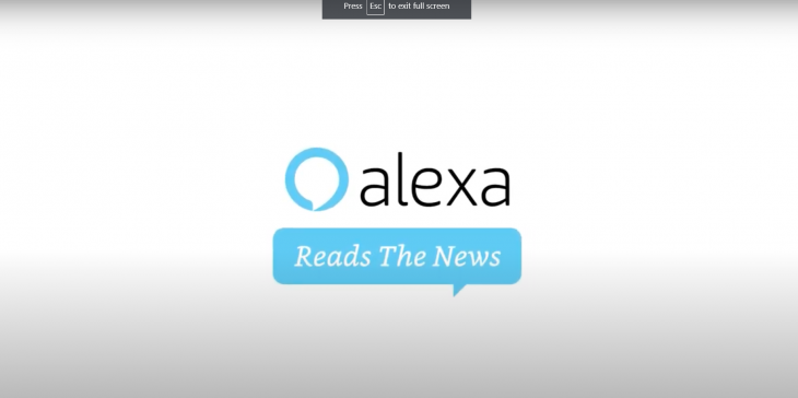 "The New York Times ""Alexa Reads The News"""