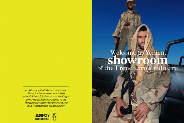 "Amnesty International ""Fashion is not all there is to France"""