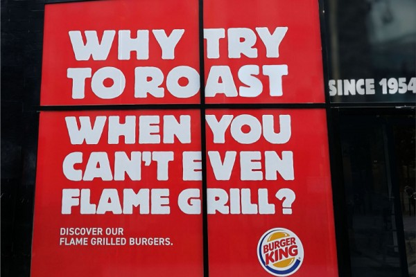 "Burger King ""Why try to roast when you can't even flame grill?"""