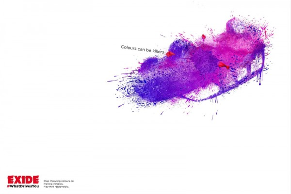 "Exide: ""COLOURS CAN BE KILLERS"""