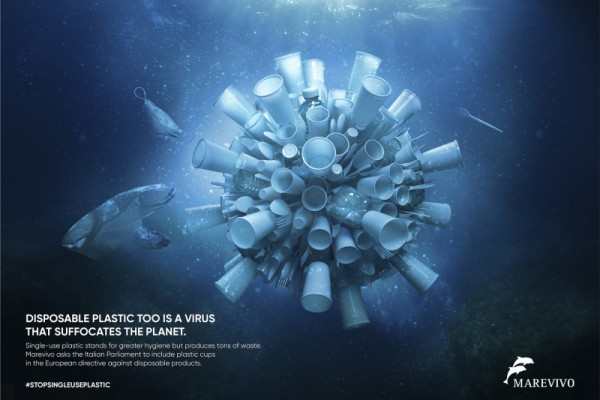 "Marevivo ""Disposable plastic is a virus"""