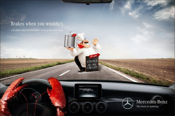 Mercedes Benz: Brakes when you wouldn't.