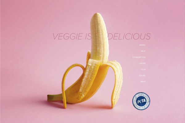"PETA ""Veggie is delicious"""