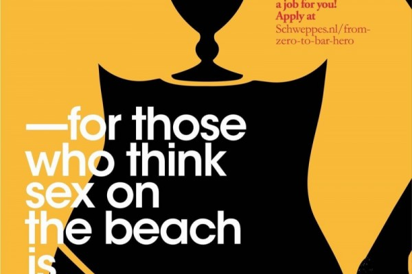 """Schweppes: """"For those who think"""" by XXS Amsterdam"""