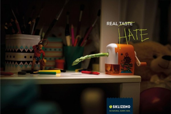 "Sklizeno: ""Real taste, real hate. So natural. Sorry, kids."" by McCann"