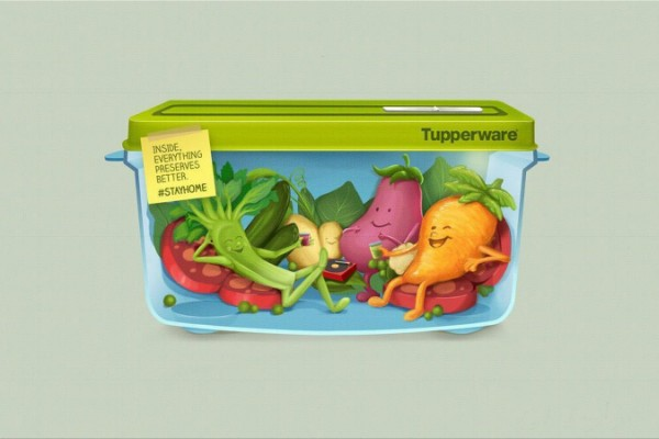 "Tupperware ""Inside, everything preserves better"""