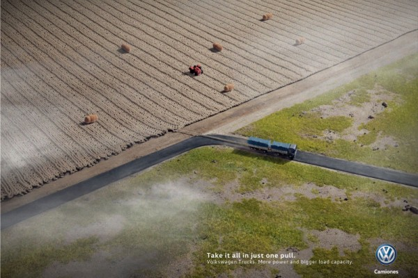 """Volkswagen """"Take it all in just one pull"""""""